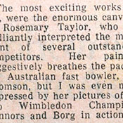 Rosemary Taylor - Article from The Sun, May 1976